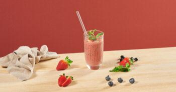 Blueberry-Strawberry Smoothie